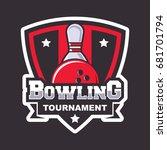 bowling logo design template | Shutterstock .eps vector #681701794