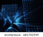 abstract technology... | Shutterstock . vector #681702559