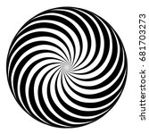 hypnosis spiral  concept for... | Shutterstock .eps vector #681703273