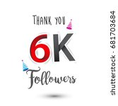 thank you design template for... | Shutterstock .eps vector #681703684