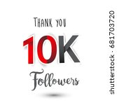 thank you design template for... | Shutterstock .eps vector #681703720