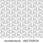 seamless abstract geometric... | Shutterstock .eps vector #681703924