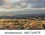 san jos   costa rica at sunrise | Shutterstock . vector #681714979