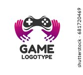 game  logo. game icon. logo... | Shutterstock .eps vector #681720469