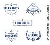 vintage nautical and ocean... | Shutterstock .eps vector #681720886