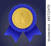gold medal for first place.... | Shutterstock .eps vector #681722470