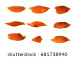 Orange Peel Laid Out In Rows...