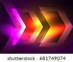 digital technology glowing... | Shutterstock . vector #681749074