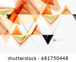 triangular low poly a4 size... | Shutterstock . vector #681750448