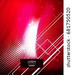 shiny glittering abstract...   Shutterstock . vector #681750520