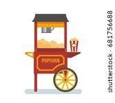 popcorn machine flat... | Shutterstock .eps vector #681756688
