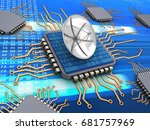3d illustration of computer... | Shutterstock . vector #681757969