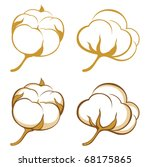 stylized cotton icons | Shutterstock .eps vector #68175865