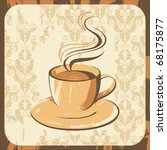 artistic coffee cup | Shutterstock .eps vector #68175877