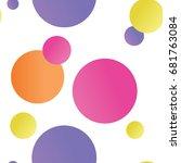 fun summer polka dot gradient... | Shutterstock .eps vector #681763084