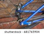 bicycle wheel | Shutterstock . vector #681765904