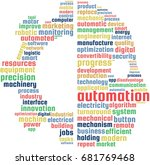 automation word cloud text... | Shutterstock .eps vector #681769468
