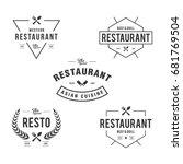 vintage restaurant and cafe... | Shutterstock .eps vector #681769504