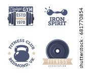 fitness logotypes templates in...