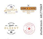 four vintage logo templates.... | Shutterstock .eps vector #681770869
