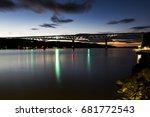 the historic walkway over the...   Shutterstock . vector #681772543