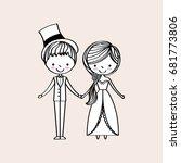 just married happy | Shutterstock .eps vector #681773806