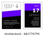 brochure annual report flat... | Shutterstock .eps vector #681776794