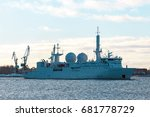 white military comander vessel... | Shutterstock . vector #681778729