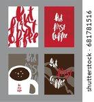post card design | Shutterstock .eps vector #681781516