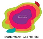 3d papercut layers in gradient... | Shutterstock .eps vector #681781783