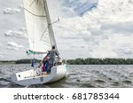 sailing boat. sailing yacht... | Shutterstock . vector #681785344