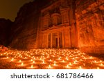 petra by night  candlelit  and... | Shutterstock . vector #681786466