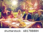 leisure  holidays  eating ... | Shutterstock . vector #681788884