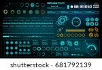 futuristic virtual graphic... | Shutterstock .eps vector #681792139