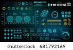 futuristic virtual graphic...   Shutterstock .eps vector #681792169