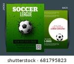 soccer event flyer template... | Shutterstock .eps vector #681795823