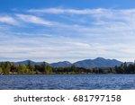 beautiful mirror lake in lake... | Shutterstock . vector #681797158