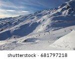 winter in alps  kaltenbach ski... | Shutterstock . vector #681797218