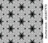 monochrome engraving pattern.... | Shutterstock .eps vector #681807970