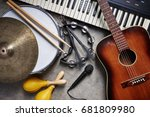 a group of musical instruments...