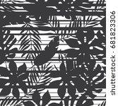 seamless black and white... | Shutterstock .eps vector #681823306