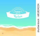 summer party. flat banner from... | Shutterstock .eps vector #681824224