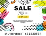 vector sale banner  poster... | Shutterstock .eps vector #681830584