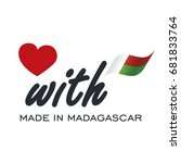 love with made in madagascar... | Shutterstock .eps vector #681833764