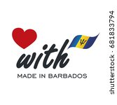 love with made in barbados logo ... | Shutterstock .eps vector #681833794