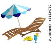 summer beach set | Shutterstock .eps vector #681834790