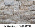 close up of honey onyx brick... | Shutterstock . vector #681837748