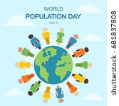 world population day  11 july.... | Shutterstock .eps vector #681837808