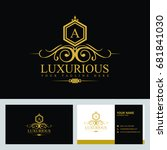 luxury logo template in vector... | Shutterstock .eps vector #681841030