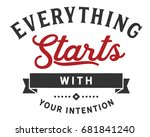 Everything Starts With Your...